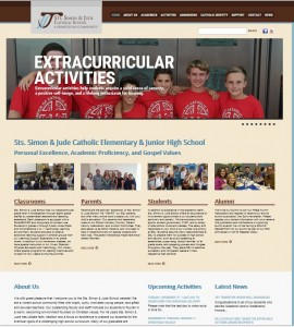 Sts. Simon & Jude Catholic Elementary & Junior High School in Huntington Beach California was in need of a new website that was search engine & mobile friendly and allowed the client easy page updates. GANZ Media delivered this 100+ page WordPress website in under 3 months!