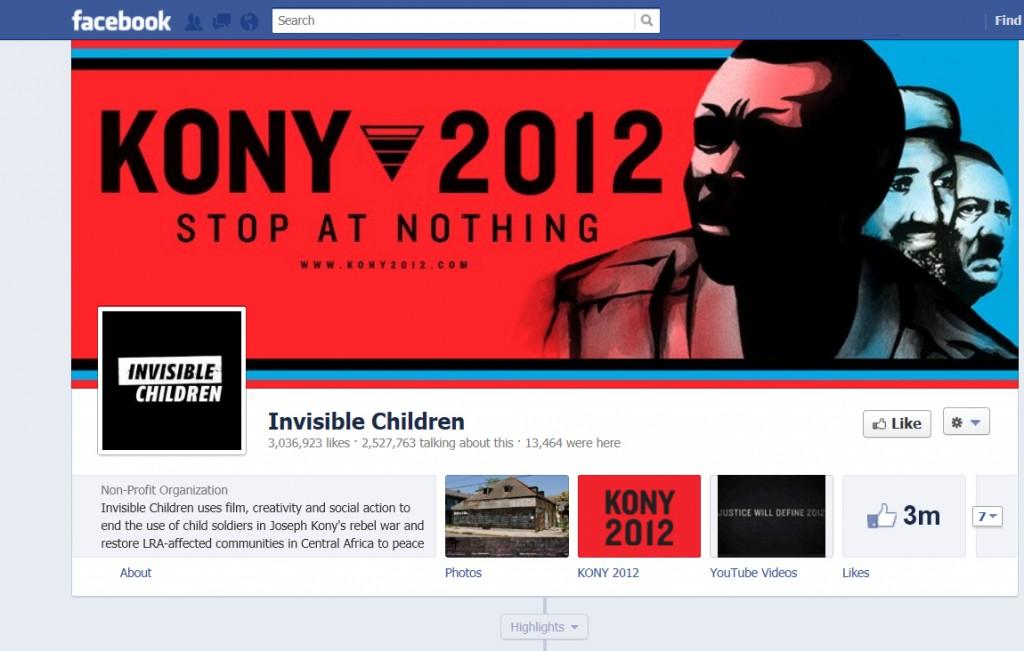 Kony 2012 Facebook image