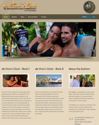 Davinci's Clock Book Series Website