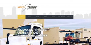 Mighty Trucking is transportation shipping company in Los Angeles. We designed a new website and SEO Keyword Template to help boost search engine traffic.