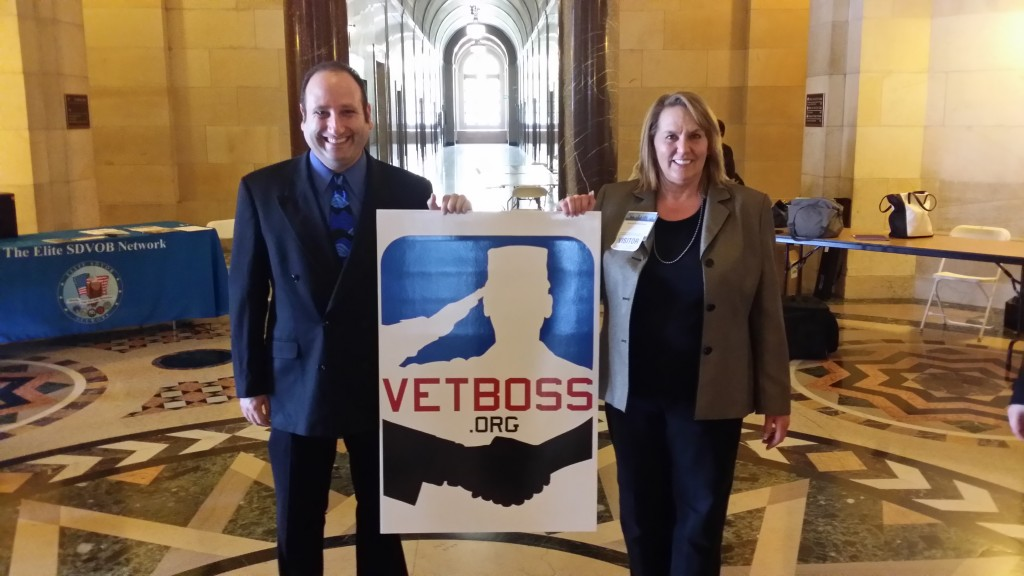 GANZ Media at Los Angeles Mayor Eric Garcetti's Veteran Business Summit 2014. Helping to promote jobs for our Vets at City Hall!