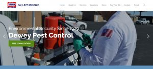 New Website: Dewey Pest Control - Dewey Services, Inc. owns and operates 32 branches throughout the State of California.