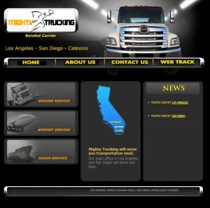BEFORE: Mighty Trucking Website